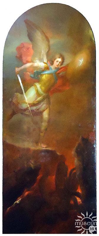 Икона. Архистратиг Михаил. Боровиковский В.Л.. Российская империя, 1793-1794 гг. Медь; масло